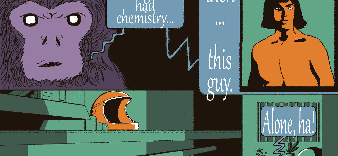 A Brief Comic Responding to ROBINSON CRUSOE ON MARS